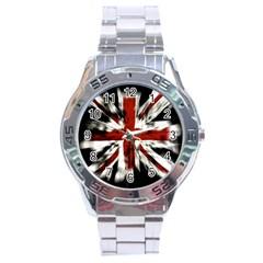 British Flag Stainless Steel Analogue Watch by Nexatart