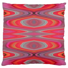 Hard Boiled Candy Abstract Large Cushion Case (two Sides) by Nexatart
