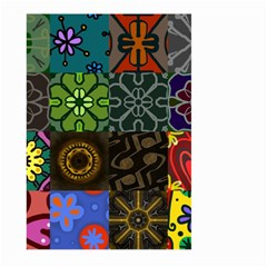 Digitally Created Abstract Patchwork Collage Pattern Large Garden Flag (two Sides) by Nexatart