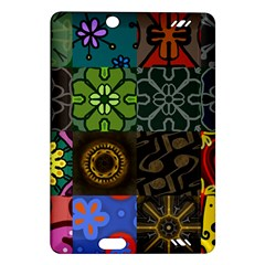 Digitally Created Abstract Patchwork Collage Pattern Amazon Kindle Fire Hd (2013) Hardshell Case by Nexatart