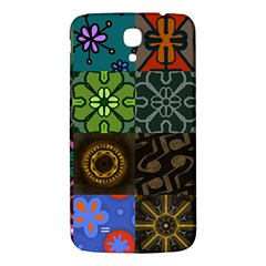 Digitally Created Abstract Patchwork Collage Pattern Samsung Galaxy Mega I9200 Hardshell Back Case