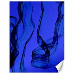 Blue Velvet Ribbon Background Canvas 18  X 24   by Nexatart