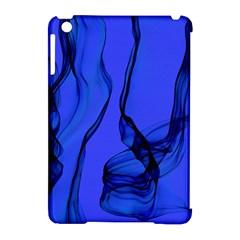 Blue Velvet Ribbon Background Apple Ipad Mini Hardshell Case (compatible With Smart Cover) by Nexatart