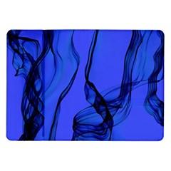 Blue Velvet Ribbon Background Samsung Galaxy Tab 10 1  P7500 Flip Case by Nexatart