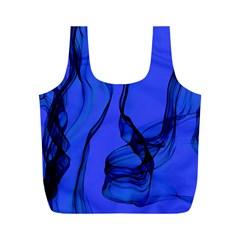 Blue Velvet Ribbon Background Full Print Recycle Bags (m)  by Nexatart