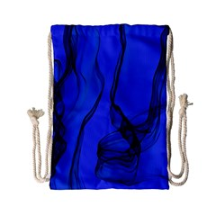 Blue Velvet Ribbon Background Drawstring Bag (small) by Nexatart