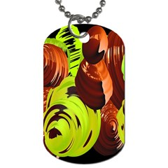Neutral Abstract Picture Sweet Shit Confectioner Dog Tag (two Sides) by Nexatart
