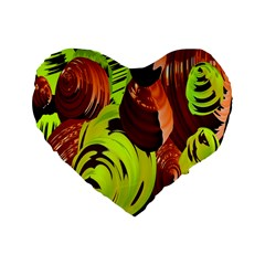 Neutral Abstract Picture Sweet Shit Confectioner Standard 16  Premium Flano Heart Shape Cushions by Nexatart