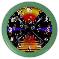 Diamond Manufacture Color Wall Clocks by Nexatart