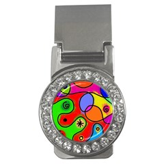 Digitally Painted Patchwork Shapes With Bold Colours Money Clips (cz)  by Nexatart