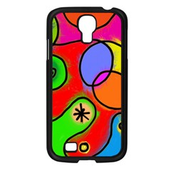 Digitally Painted Patchwork Shapes With Bold Colours Samsung Galaxy S4 I9500/ I9505 Case (black) by Nexatart