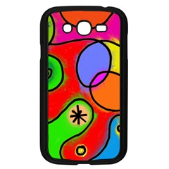 Digitally Painted Patchwork Shapes With Bold Colours Samsung Galaxy Grand Duos I9082 Case (black) by Nexatart