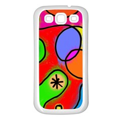 Digitally Painted Patchwork Shapes With Bold Colours Samsung Galaxy S3 Back Case (white) by Nexatart