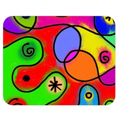 Digitally Painted Patchwork Shapes With Bold Colours Double Sided Flano Blanket (medium)  by Nexatart