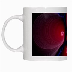 Color Fractal Pattern White Mugs by Nexatart