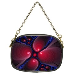 Color Fractal Pattern Chain Purses (one Side)  by Nexatart