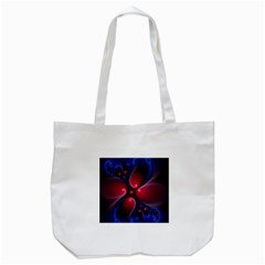 Color Fractal Pattern Tote Bag (white) by Nexatart