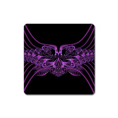 Beautiful Pink Lovely Image In Pink On Black Square Magnet by Nexatart