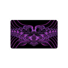 Beautiful Pink Lovely Image In Pink On Black Magnet (name Card) by Nexatart