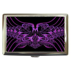 Beautiful Pink Lovely Image In Pink On Black Cigarette Money Cases by Nexatart