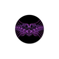 Beautiful Pink Lovely Image In Pink On Black Golf Ball Marker by Nexatart