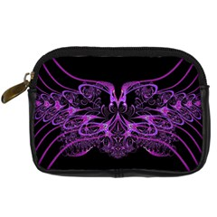 Beautiful Pink Lovely Image In Pink On Black Digital Camera Cases by Nexatart