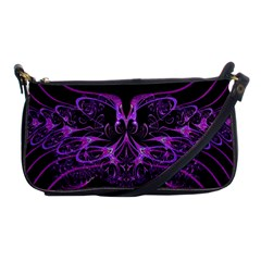 Beautiful Pink Lovely Image In Pink On Black Shoulder Clutch Bags by Nexatart