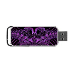 Beautiful Pink Lovely Image In Pink On Black Portable Usb Flash (two Sides) by Nexatart
