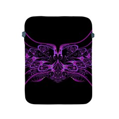 Beautiful Pink Lovely Image In Pink On Black Apple Ipad 2/3/4 Protective Soft Cases by Nexatart