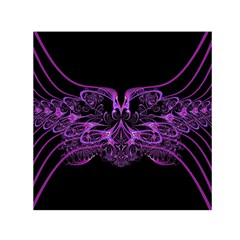 Beautiful Pink Lovely Image In Pink On Black Small Satin Scarf (square) by Nexatart