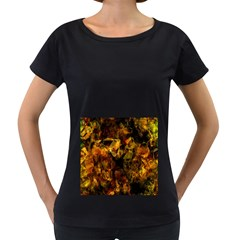 Autumn Colors In An Abstract Seamless Background Women s Loose-Fit T-Shirt (Black) by Nexatart