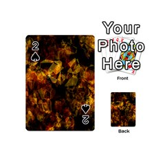 Autumn Colors In An Abstract Seamless Background Playing Cards 54 (mini)  by Nexatart