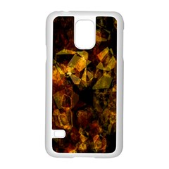 Autumn Colors In An Abstract Seamless Background Samsung Galaxy S5 Case (white)