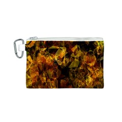 Autumn Colors In An Abstract Seamless Background Canvas Cosmetic Bag (s) by Nexatart