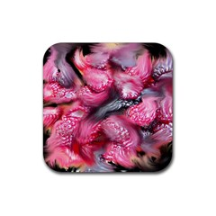 Raspberry Delight Rubber Coaster (square)  by Nexatart