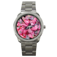 Raspberry Delight Sport Metal Watch by Nexatart