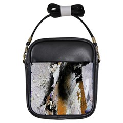 Abstract Graffiti Background Girls Sling Bags by Nexatart