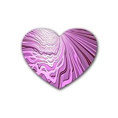 Light Pattern Abstract Background Wallpaper Rubber Coaster (heart)  by Nexatart