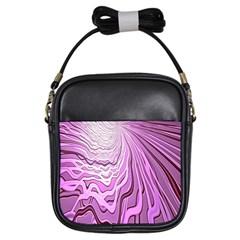 Light Pattern Abstract Background Wallpaper Girls Sling Bags by Nexatart