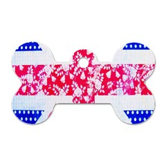 British Flag Abstract British Union Jack Flag In Abstract Design With Flowers Dog Tag Bone (two Sides) by Nexatart