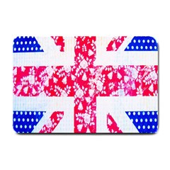 British Flag Abstract British Union Jack Flag In Abstract Design With Flowers Small Doormat  by Nexatart
