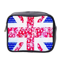 British Flag Abstract British Union Jack Flag In Abstract Design With Flowers Mini Toiletries Bag 2 Side by Nexatart