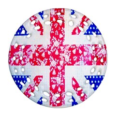British Flag Abstract British Union Jack Flag In Abstract Design With Flowers Ornament (round Filigree) by Nexatart