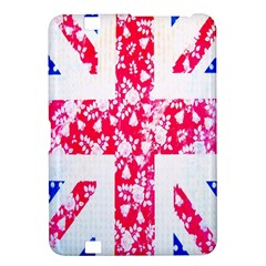 British Flag Abstract British Union Jack Flag In Abstract Design With Flowers Kindle Fire Hd 8 9  by Nexatart