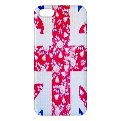 British Flag Abstract British Union Jack Flag In Abstract Design With Flowers Apple Iphone 5 Premium Hardshell Case by Nexatart
