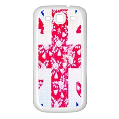 British Flag Abstract British Union Jack Flag In Abstract Design With Flowers Samsung Galaxy S3 Back Case (white)