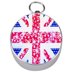 British Flag Abstract British Union Jack Flag In Abstract Design With Flowers Silver Compasses by Nexatart