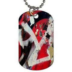 Abstract Graffiti Background Wallpaper Of Close Up Of Peeling Dog Tag (one Side) by Nexatart