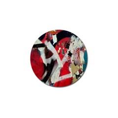 Abstract Graffiti Background Wallpaper Of Close Up Of Peeling Golf Ball Marker (10 Pack) by Nexatart