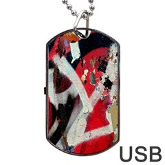 Abstract Graffiti Background Wallpaper Of Close Up Of Peeling Dog Tag Usb Flash (one Side) by Nexatart